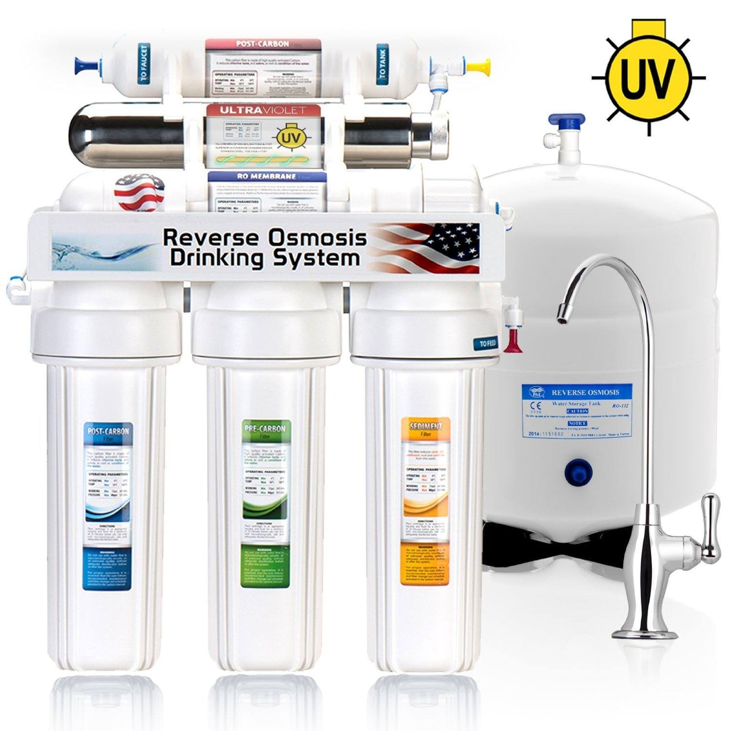 Express Water 6 Stage UV Ultra-Violet Sterilizer Reverse Osmosis