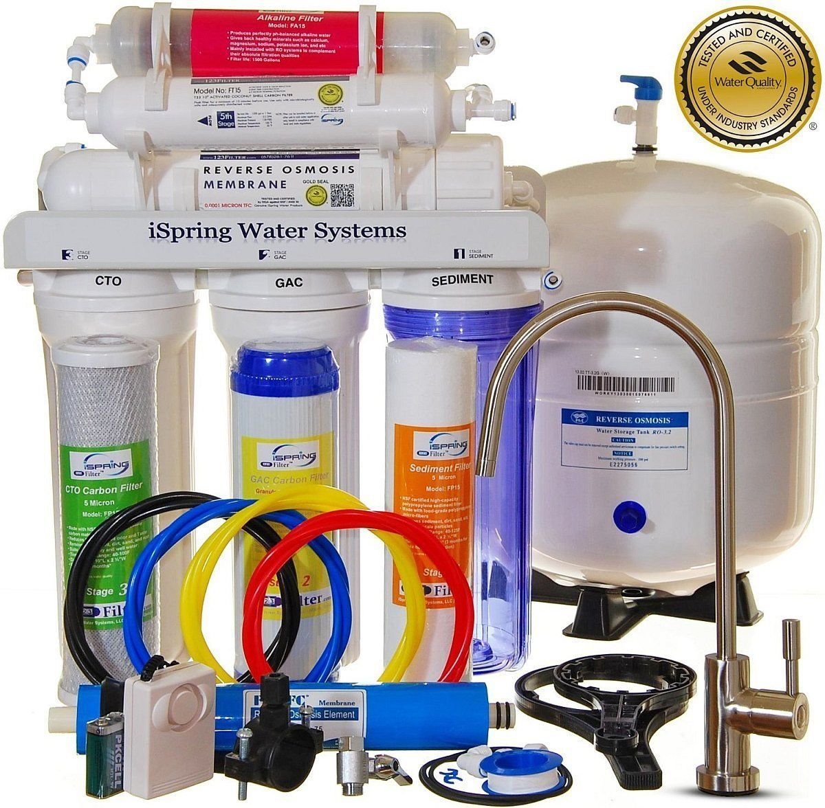 ISpring RCC7AK Built in the USA, WQA Certified Reverse Osmosis