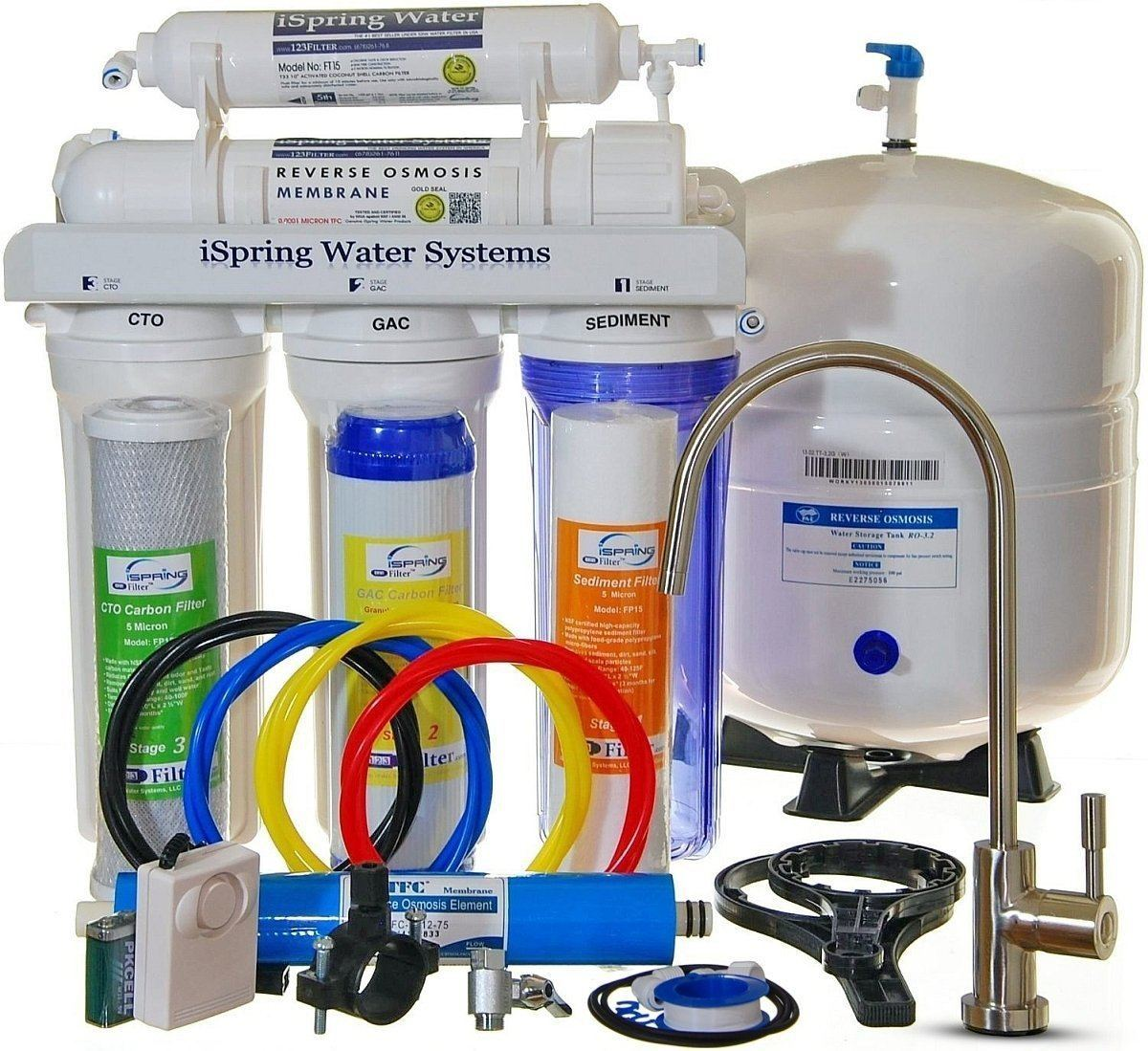 iSpring RCC7 - Built in USA, WQA Certified Reverse Osmosis